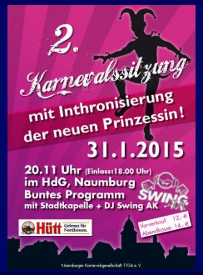 2. Karnevalssitzung Naumburg 2015