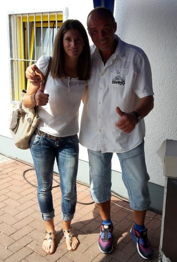 DJ SWING-AK mit Cyndie Allemann. Bekannt aus GRIP - Das Motormagazin