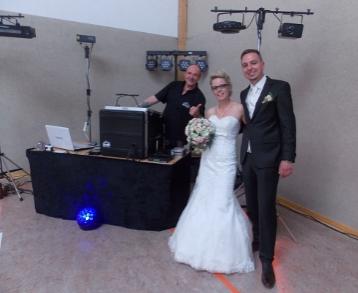 Brautpaar und DJ SWING-AK